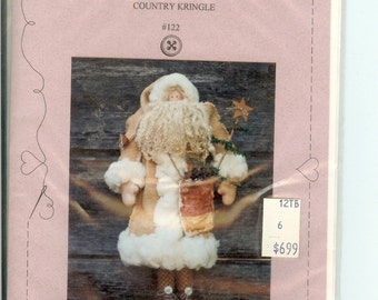 Country Kringle Santa sewing  pattern #122 Cloth Doll by Sweet Stitches Uncut
