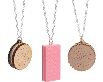 Biscuit necklace - laser cut acrylic