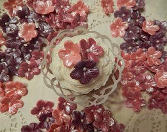 """30 1"""" Gumpaste /Fondant Edible Blossoms  for cakes & cupcakes"""