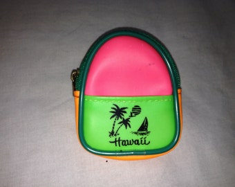 neon mini mini backpack/coin purse