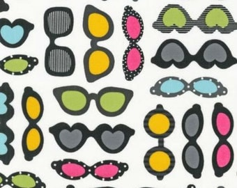 This and That Eye Glasses in Sunshine by Ann Kelle for Robert Kaufman by the Yard