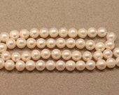 Super SALE Black Friday Sale White Freshwater Pearls, Near Round Pearls 6.5-7.5mm--set of 11