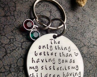 Sisters Gift for Aunt Sisters Keychain The Only Thing Better Than Having you for a Sister...Aunt Keychain