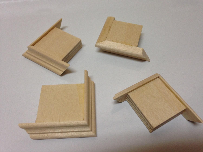 Mini hardwood box corner feet craft woodworking supplies for Wood craft supply stores