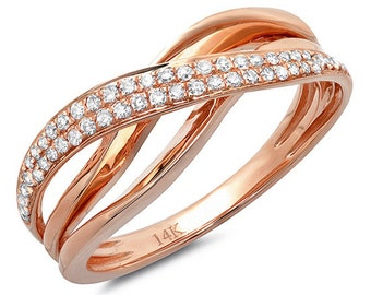 Beautiful 14k Gold Diamond Bridge Ring. BXSC36212641