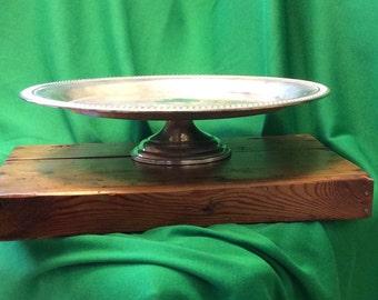 Vintage Silver Plated Pedestal Cake Stand