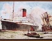 Vintage postcard, 1920s, SS Minnetonka, original, Atlantic Transport Line, Holbein , ship, collectible, paper ephemera, free shipping