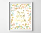 Baby Girl Gift-Mint Coral Gold Polka Dot Wall Art from paper and palette