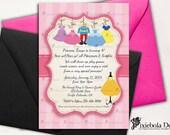 Co-Ed Princess Dress Up- Princess/Prince Birthday Invitation- Design Fee