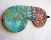 Adjustable Sleeping Mask, Lightweight Batik Eye Mask, Colorful Batik Sleep Mask, Sleep Mask