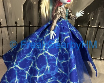 Water World Gown for your Monster High Girl Doll