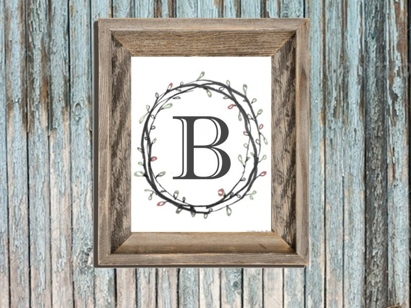 The Letter B Wall Decor : Typography letter b wall art letters printable nursery