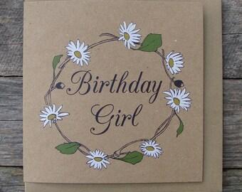 Daisy Chain Birthday Girl Card