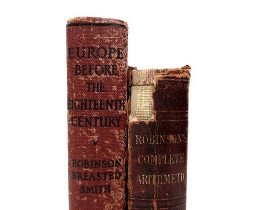 Shabby Cottage Vintage Books Book Decor Decorative Books