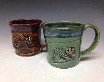 Decorative pine and pinecone 12oz mug