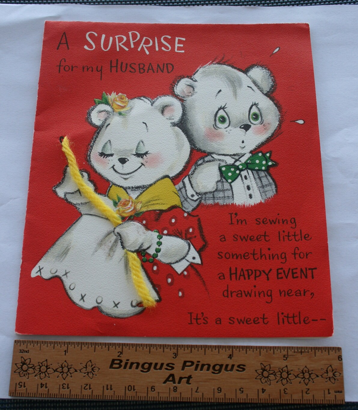 Vintage Hallmark Funny Birthday Surprise Card By