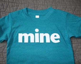 2T mine Children/Toddler Short Sleeve Tri Blend Tee Shirt First Words