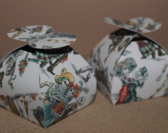 Day Of The Dead Favour Boxes- Choose Small Or Large And Quantity