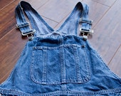 Bill Blass Denim Overall Shorts
