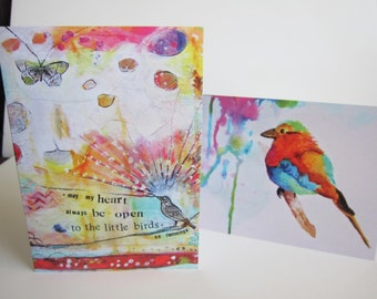 Artsy Greeting Cards | Set of 2 | Bird Paintings