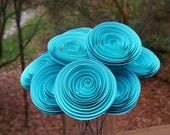 Paper Flower Bouquet - Tiffany Blue Paper Flower Bouquet for Weddings, Brides, Weddings, Showers, Birthdays, Mother's Day