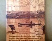 Maple cutting board - Everglades Kayaker
