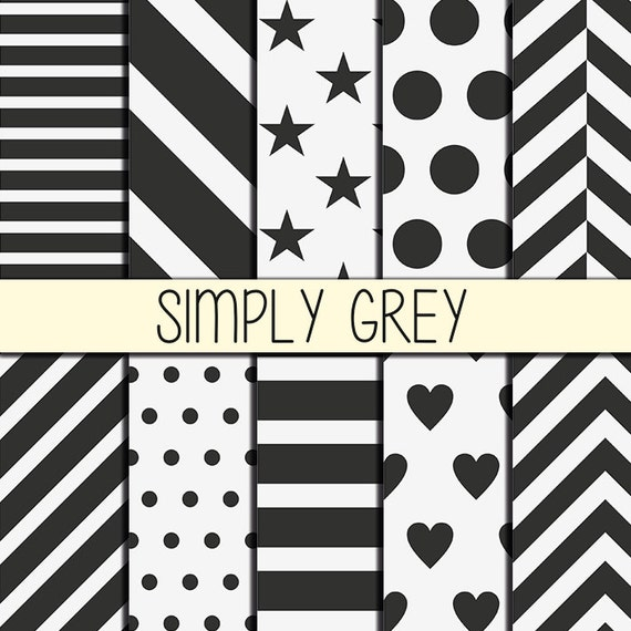 grey patterns fond imprimable instant download