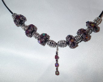 Beaded bead necklace