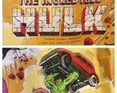 Incredible Hulk Curtains early 80s Cadence industries Marvel merchandise original Hulk collectables long wall hanging