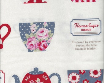 Teacups from Flower Sugar Maison by Lecien Fabrics