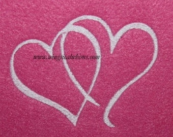 Double Heart   Valentine Digitized Machine Embroidery Design