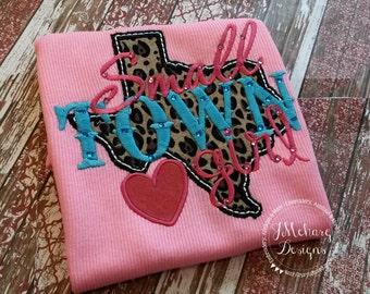 Small Town Texas Girl Custom Tee Shirt - Customizable -  Infant to Youth 92
