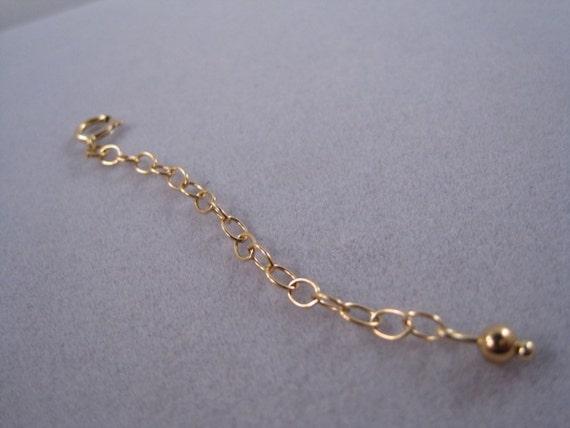 Gold 14kt gold filled extender gold necklace extender extender gold