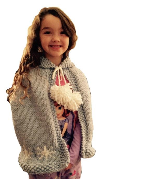 Frozen Elsa snowflake Cape Knitting Pattern PDF