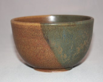 Rustic Brown Red and Green Ceramic Bowl, Metallic Shimmer Clay Bowl, Soup Cereal Pasta Rice, Unique Kitchen Dips Bowl