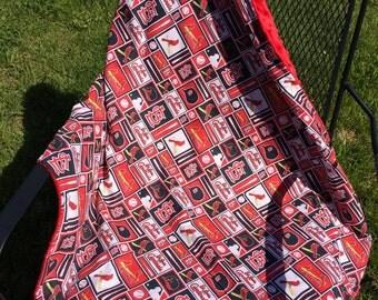 St Louis Cardinals cotton/minky blanket