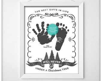 BEST GIFTS - Dr Suess Quote - Add Your Handprints, Printable // Instant Download // Black and White
