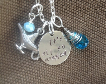 Princess Jasmine, Aladdin, It's All So Magical Princess Jasmine Necklace, Aladdin Necklace, Princess Jasmine Necklace