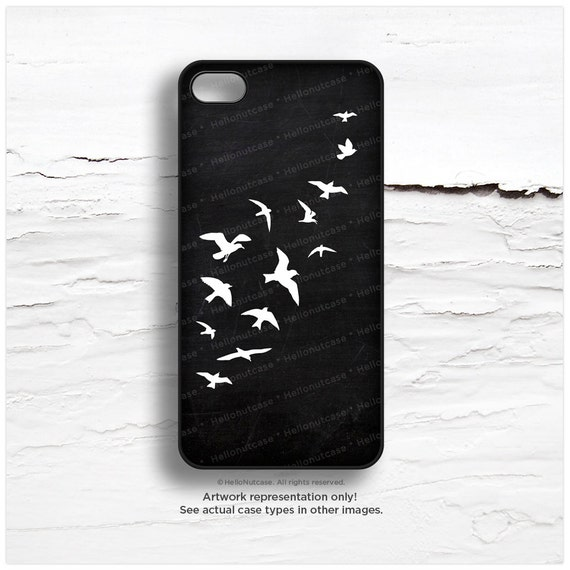iPhone 6 Case, iPhone 5C Case Chalkboard Print, iPhone 5s Case Birds, iPhone 4s Case, TOUGH iPhone Case, Bird iPhone Cover I56