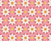 Dreamin' Vintage, Jeni Baker, Art Gallery Fabrics, White Flowers, Pink, Cotton Sewing Material, Quilting, Clothing, Fat Quarter, By The Yard