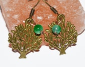Tree charm casual summer earrings