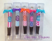 Paparte Personalized Pens  Chevron print pens, Monogramed pens, polka dots pens or striped Pens Teacher Gifts