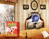 Silly Raccoon (Trix are for Kids) Art Print