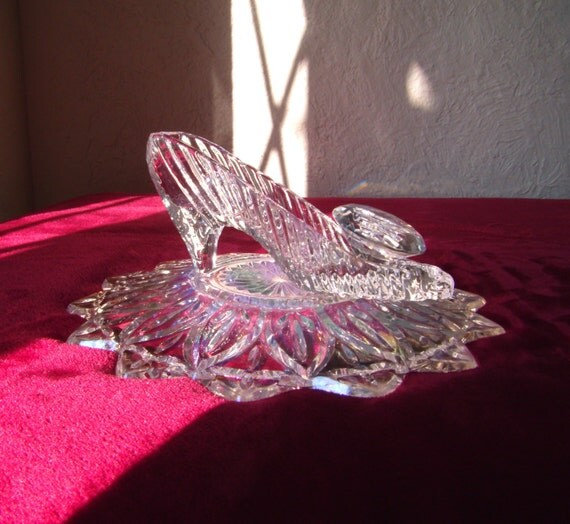 Cinderella glass slipper centerpiece images