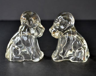Vintage Glass Dog Candy Containers - Antique Glass Dogs - Federal Glass Dogs