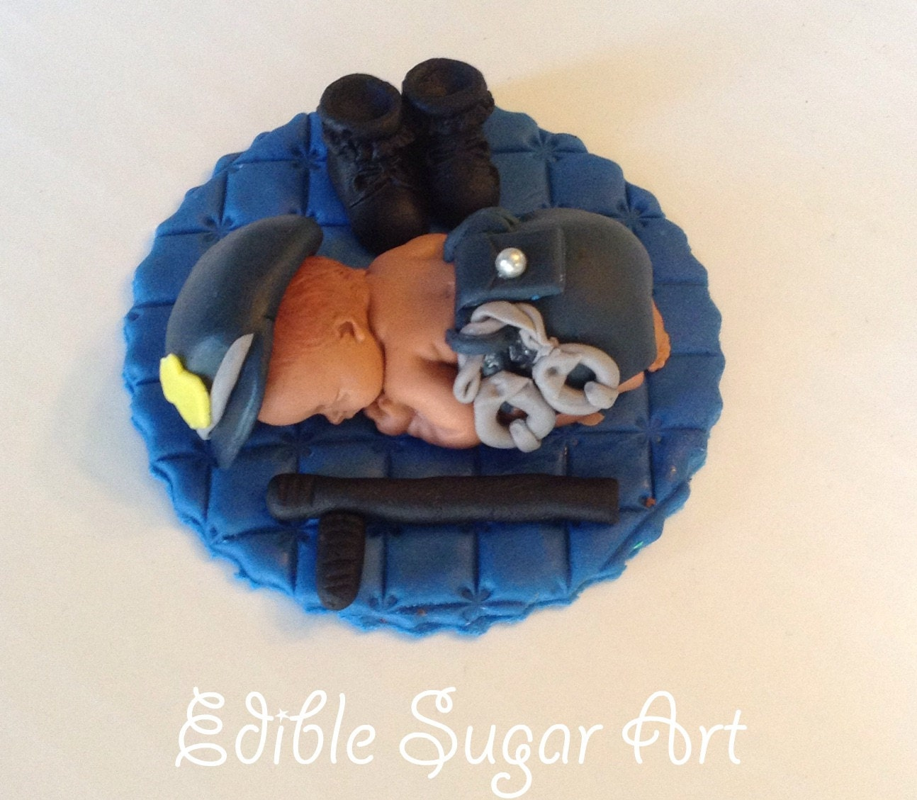 Police Officer Baby Shower Cake