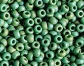 Size 6/0 Miyuki Matte Opaque Green AB Seed Bead - 15 Grams - 2924 - Miyuki Color # 6-411FR