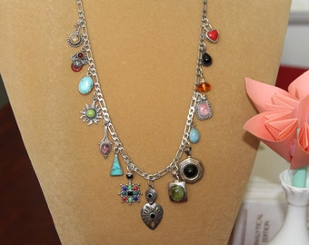 Fifteen Gorgeous Sterling Silver Pendants with Gemstones Make a Unique Necklace