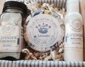 Pampering Spa Gift set: Milk Bubble Bath, Goat Milk Soap and Lotion.  Handmade, Natural, Nourishing.
