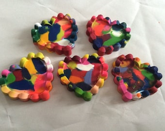 6 Heart Shaped Crayons